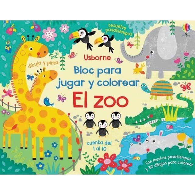 ZOO BLOC JUGAR Y COLOREAR EL