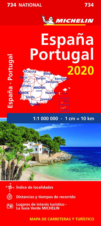 MAPA DE CARRETERAS ESPAÑA Y PORTUGAL 2020