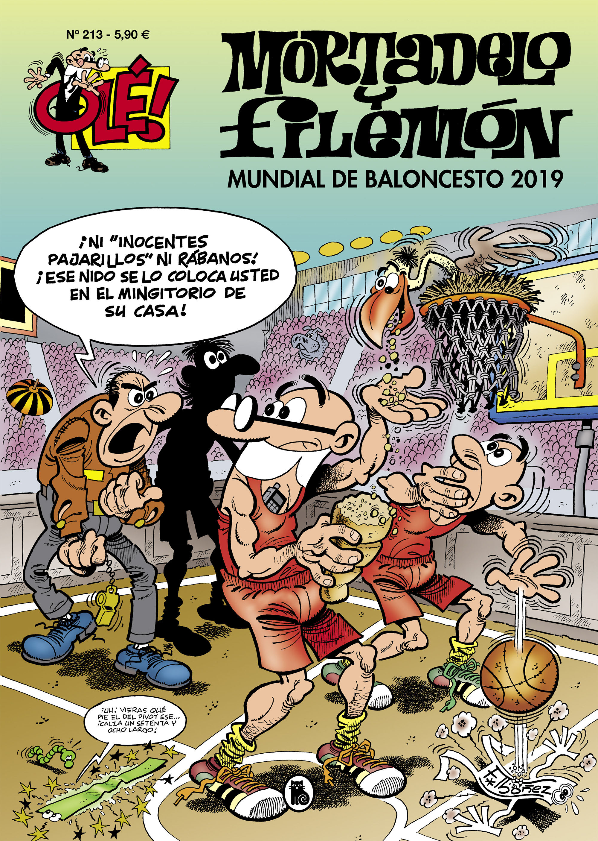 OLE MORTADELO Y FILEMON  213 MUNDIAL DE BALONCESTO 2019