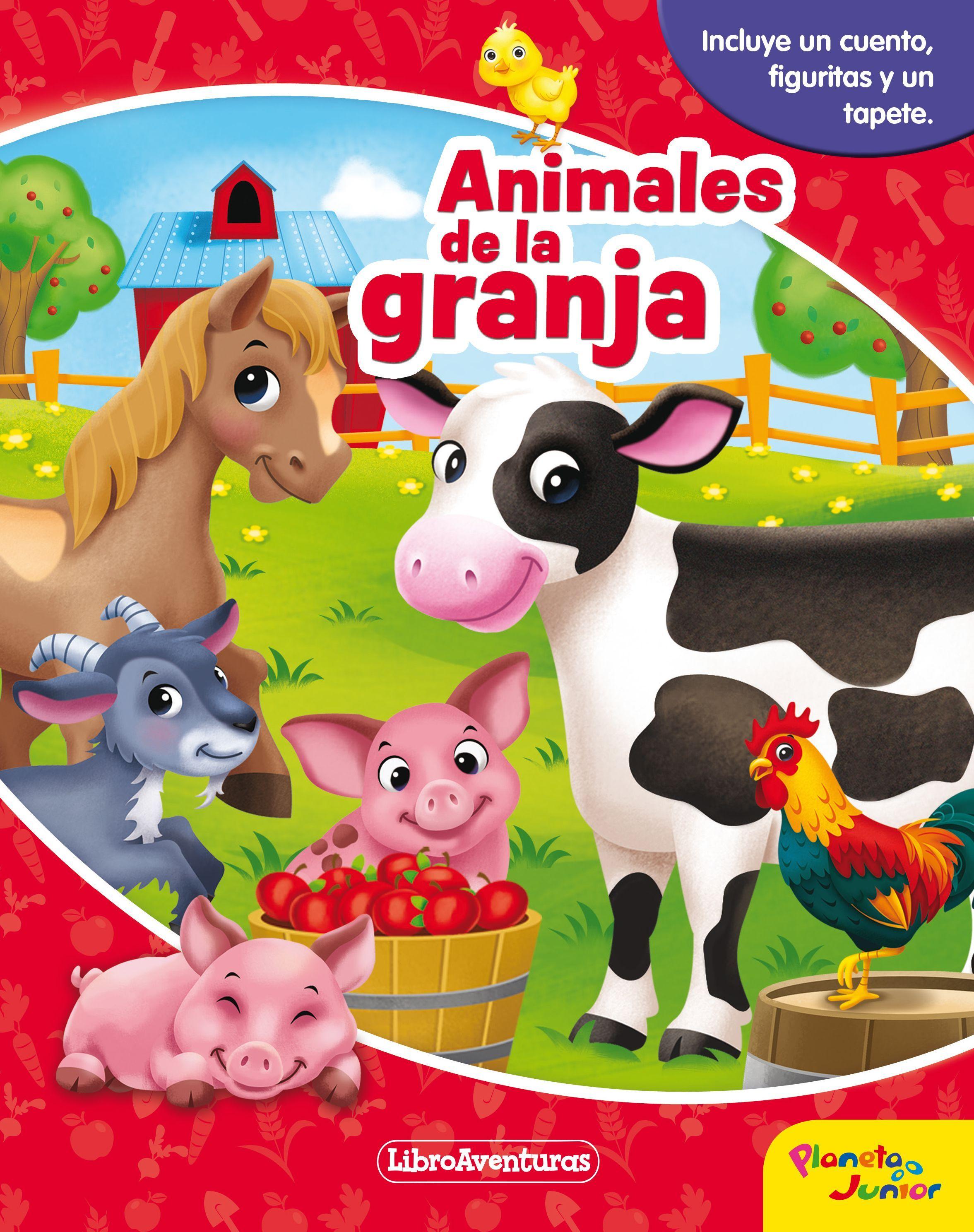 ANIMALES DE LA GRANJA INCLUYE UN CUENTO FIGURITAS I UN TAPETE