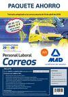 VENTA ANTICIPADA PAQUETE AHORRO PERSONAL LABORAL CORREOS. AHORRO DE 72 € (INCLUY