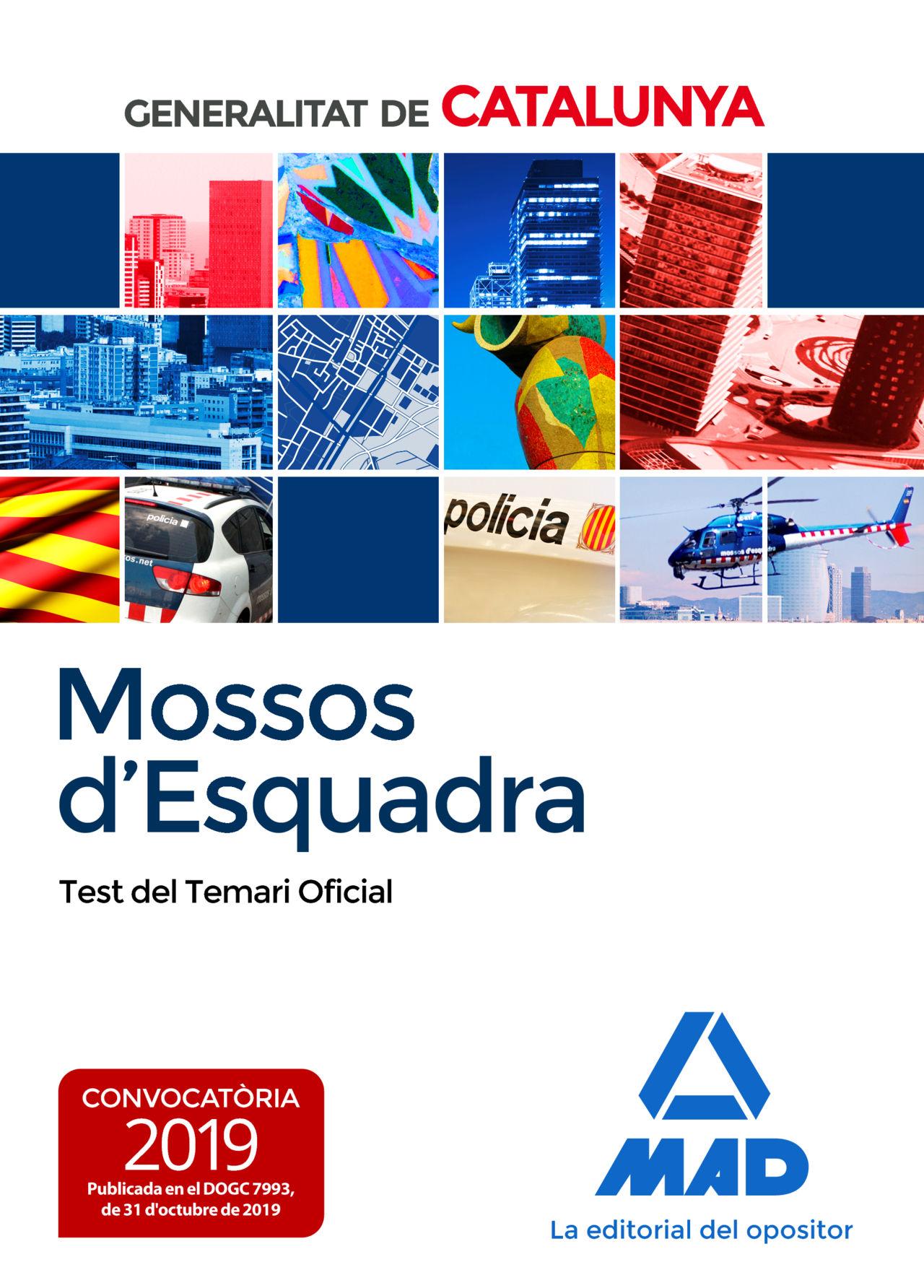 MOSSOS D`ESQUADRA TEST DEL TEMARI OFICIAL