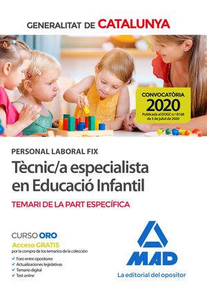 PERSONAL LABORAL FIX DE TÈCNIC/A ESPECIALISTA EN EDUCACIÓ INFANTIL DE LA GENERAL