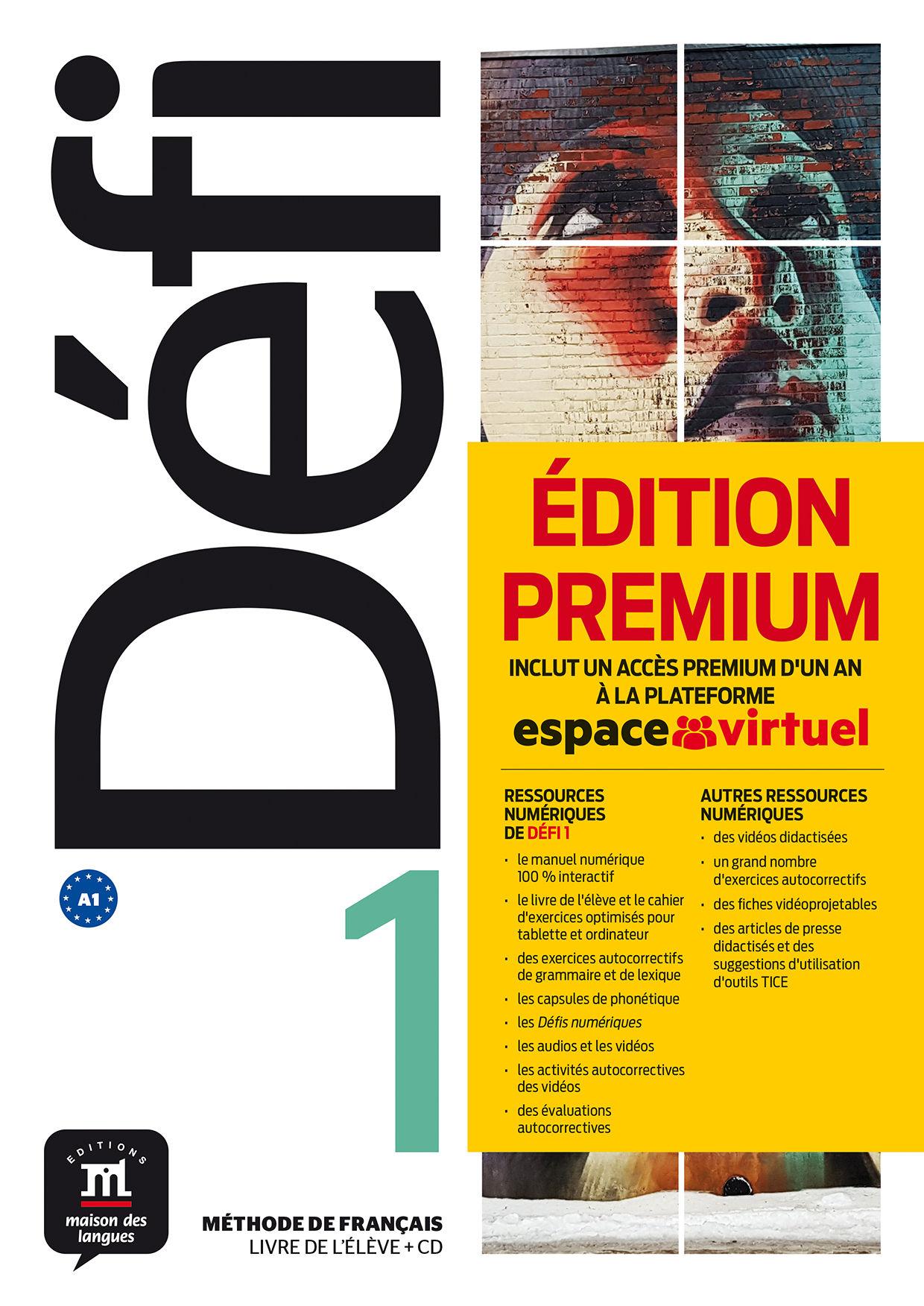 DÉFI 1 PREMIUM LIVRE DE L´ÉLÈVE + CD