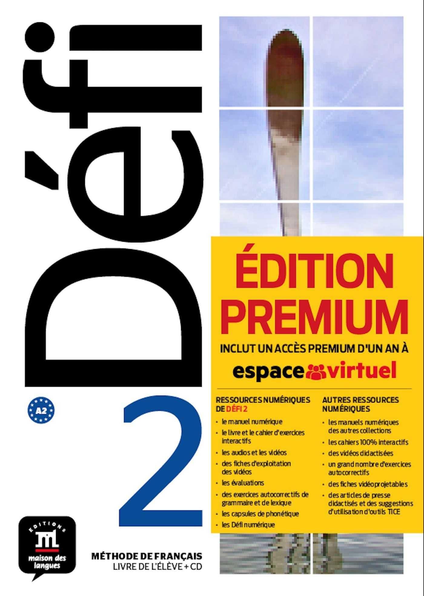 DEFI 2 LIVRE DE LELEVE CD PREMIUM A2