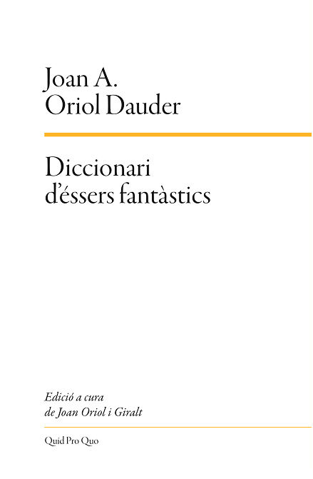 DICCIONARI D'ÉSSERS FANTÀSTICS