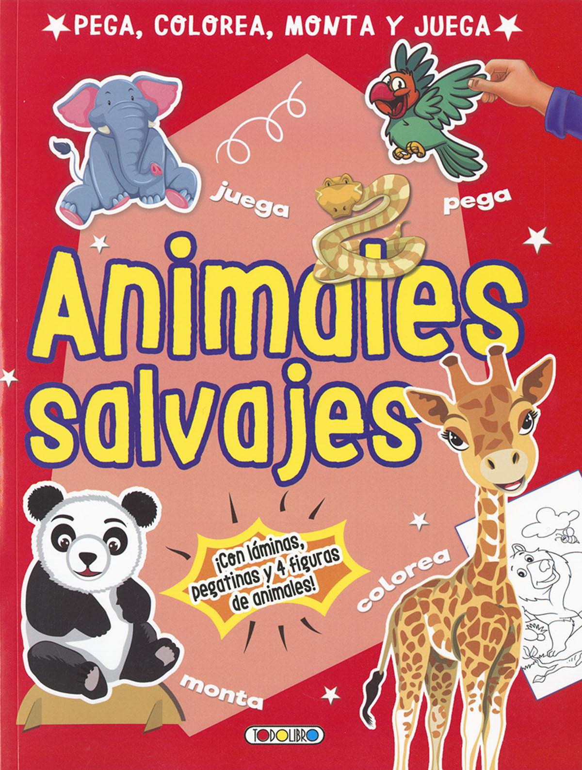 ANIMALES SALVAJES (PEGA COLOREA MONTA Y JUEGA)