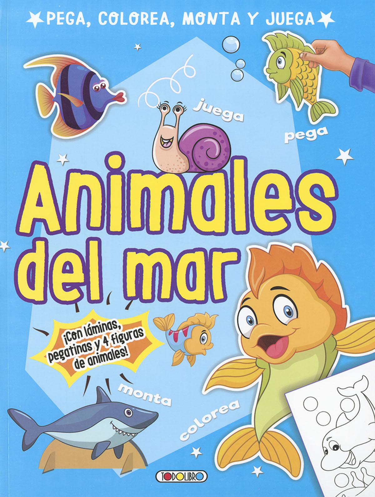 ANIMALES DEL MAR (PEGA COLOREA MONTA Y JUEGA)