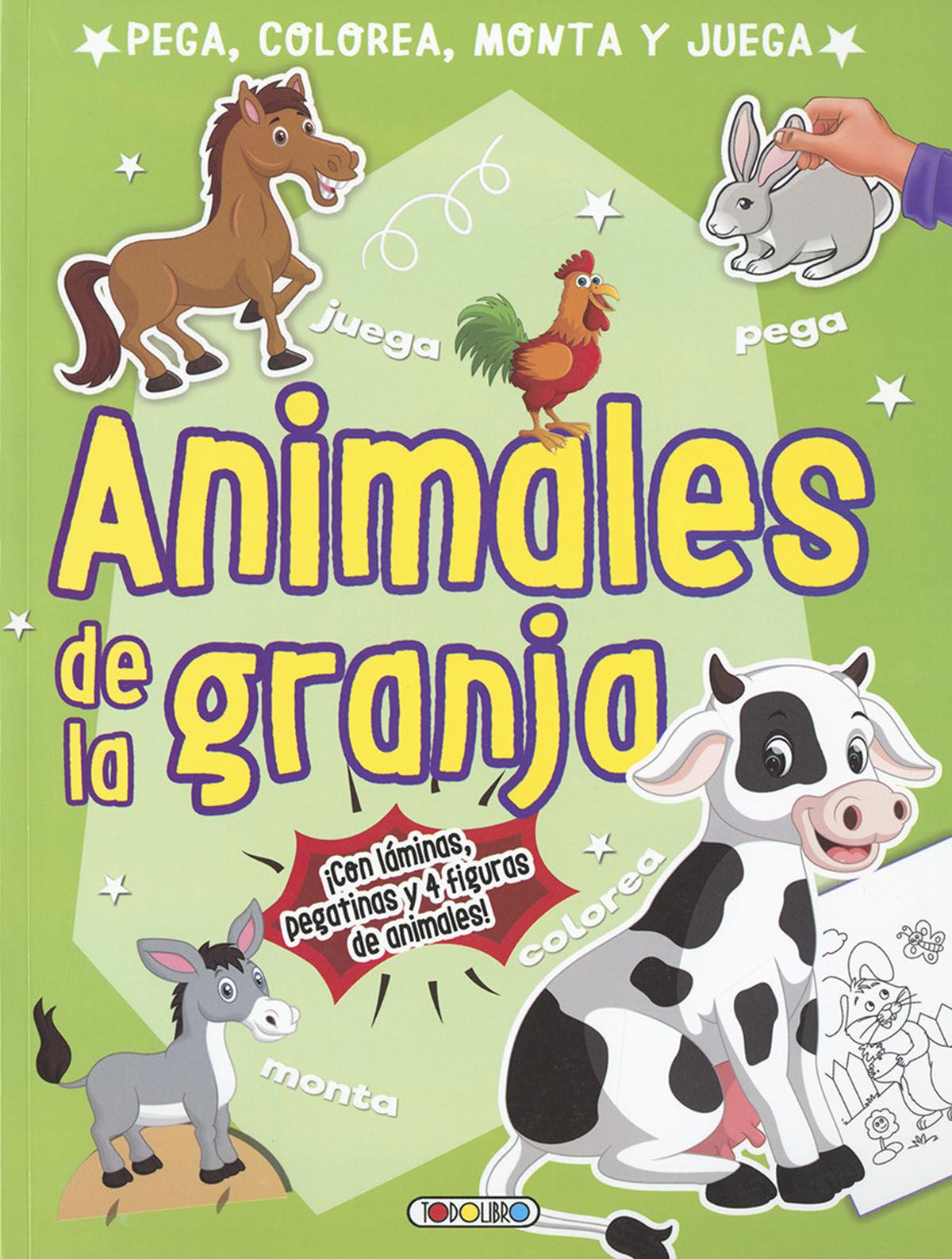 ANIMALES DE LA GRANJA (PEGA COLOREA MONTA Y JUEGA)