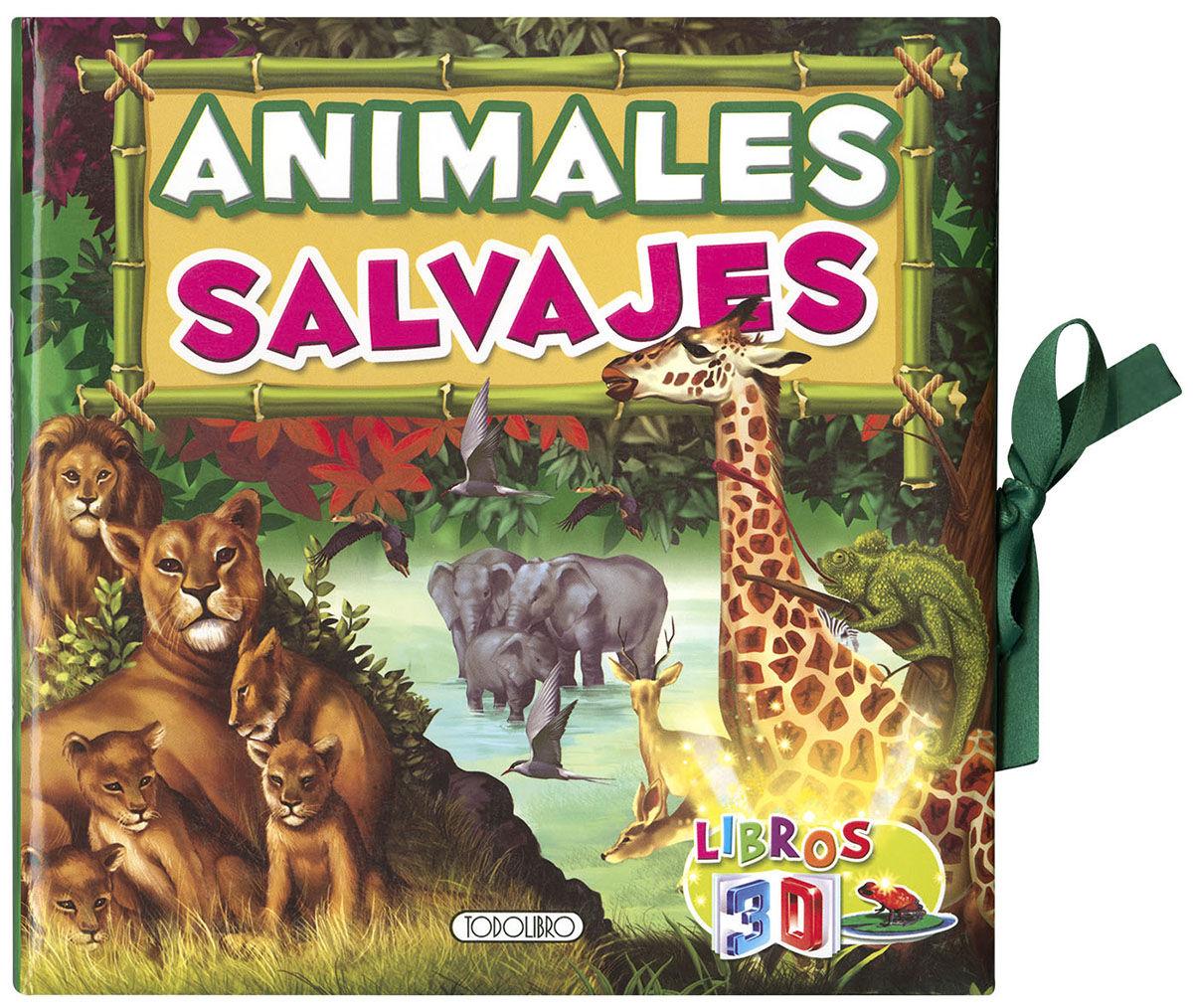 ANIMALES SALVAJES LIBROS 3D