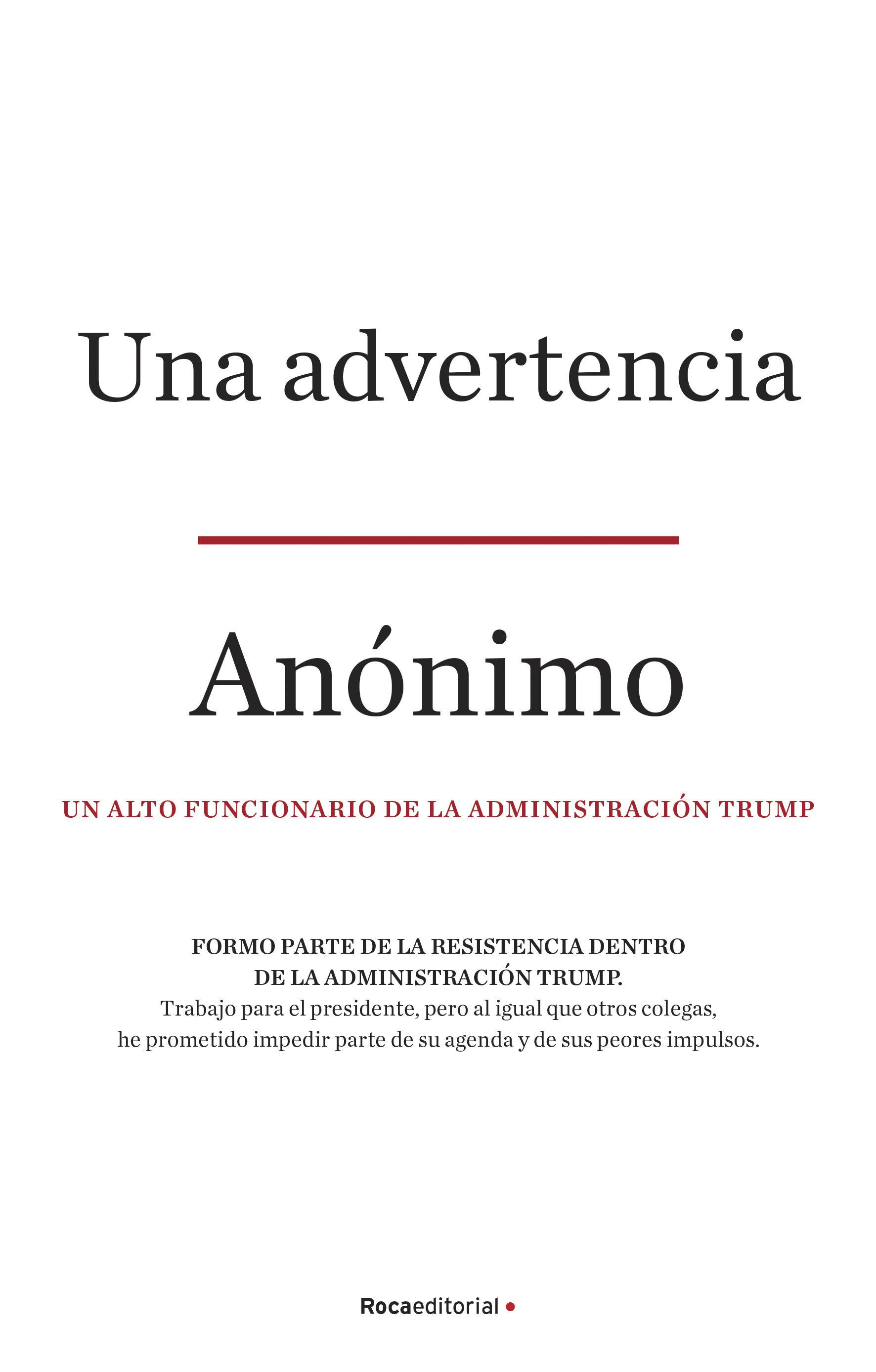 UNA ADVERTENCIA (A WARNING)
