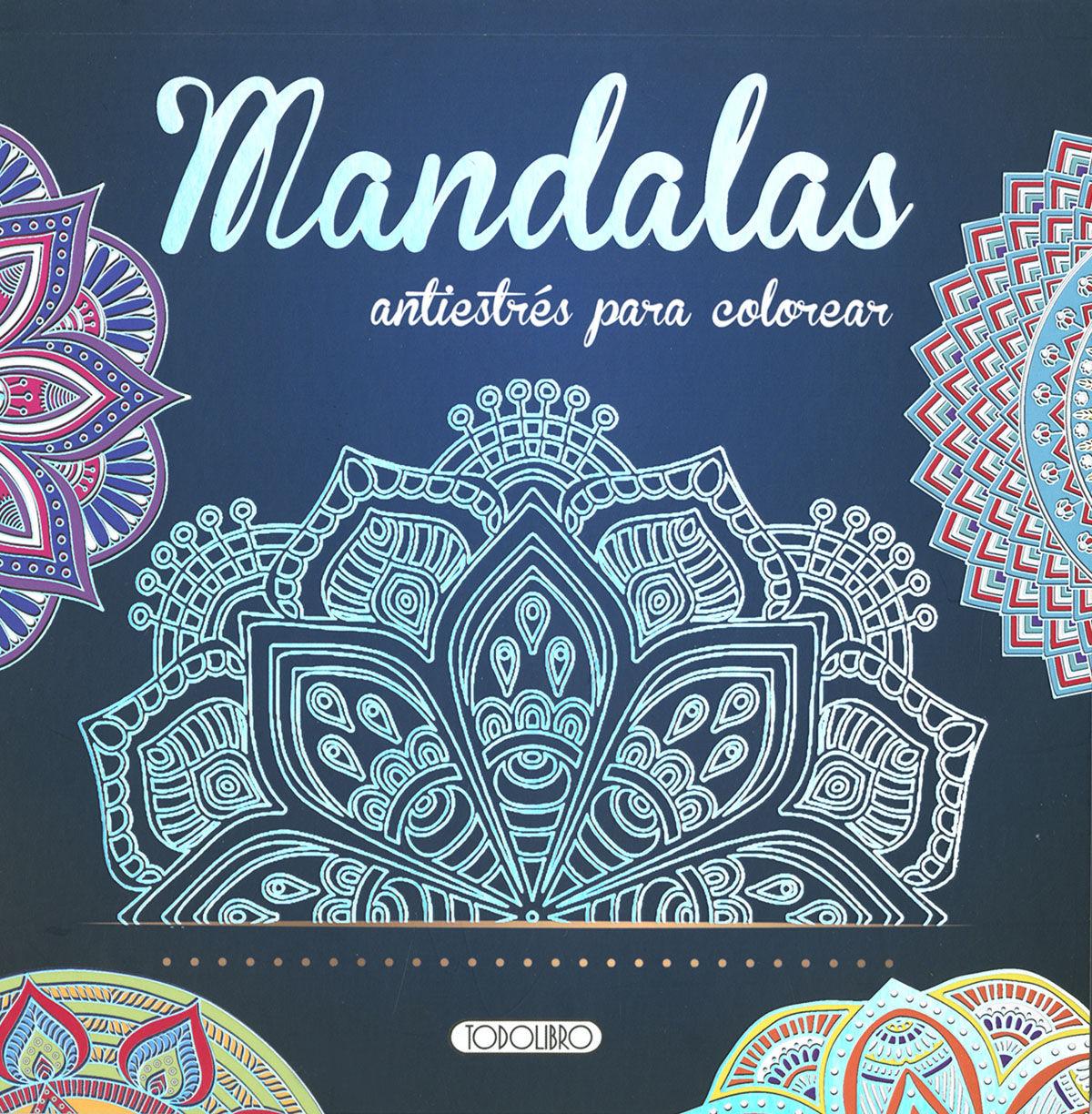 MANDALAS ANTIESTRES PARA COLOREAR 2 (AZUL)