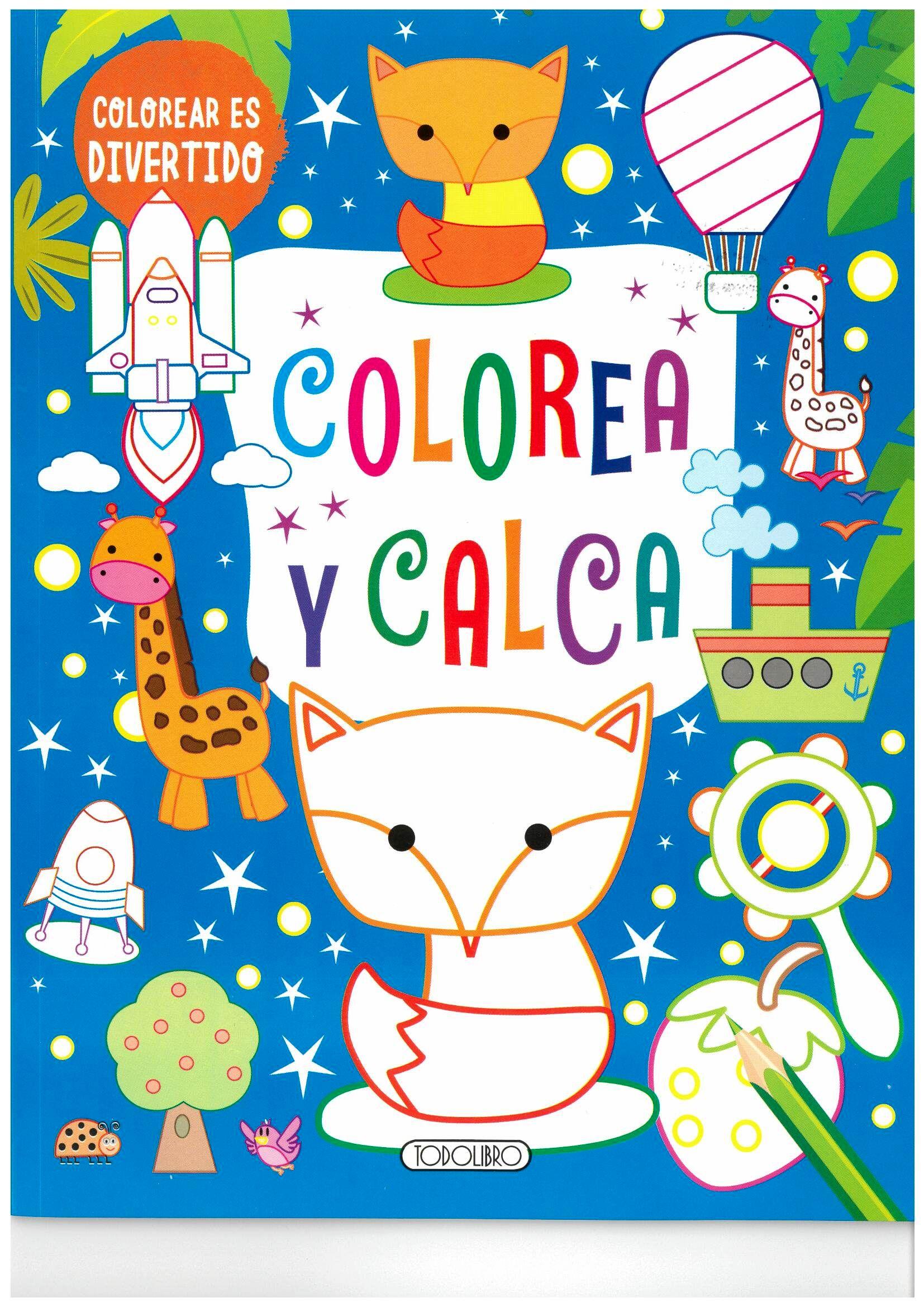 COLOREA Y CALCA (AZUL)