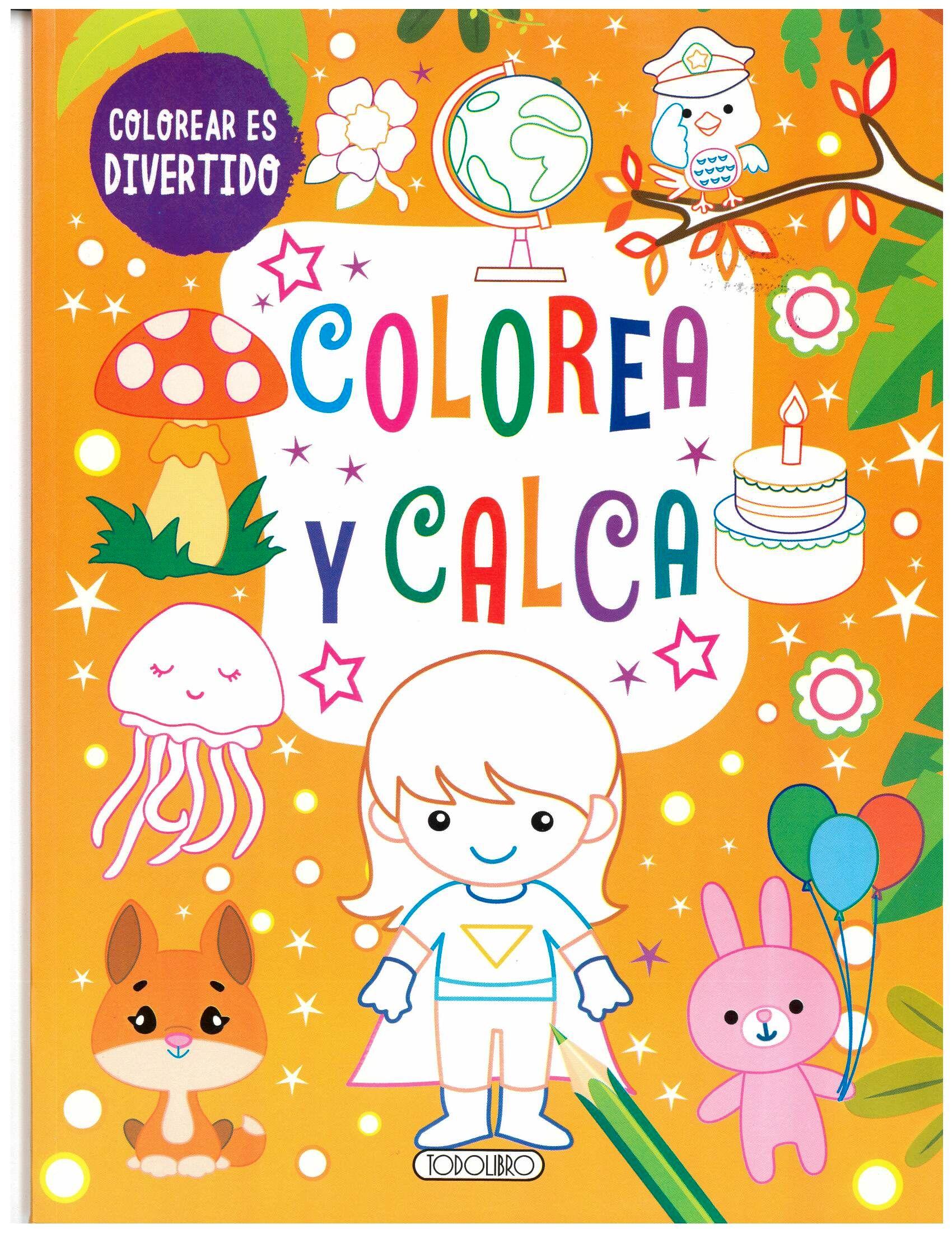 COLOREA Y CALCA  (NARANJA)