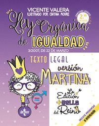 LEY ORGANICA DE IGUALDAD VERSION MARTINA