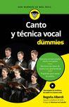 CANTO Y TECNICA VOCAL PARA DUMMIES