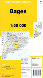 BAGES MAPA COMARCAL DE CATALUNYA 1:50 000