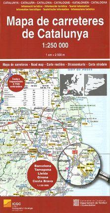 CATALUNYA MAPA DE CARRETERES 1 250 000 INSTITUT CARTOGRAFIC DE CA
