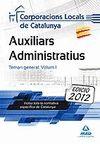 AUXILIARS ADMINISTRATIUS CCLL CATALUNYA TEMARI 1
