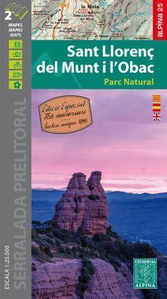 SANT LLORENÇ DEL MUNT I L'OBAC 1:25.000 -ALPINA