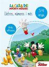 LLETRES NUMEROS I MES 3 4 ANYS LA CASA DE MICKEY MOUSE