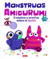 MONSTRUOS AMIGURUMI - 15 SIMPÁTICOS Y TERRORÍFIOS MUÑECOS DE GANCHILLO