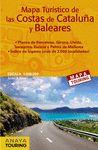 MAPA TURÍSTICO DE LAS COSTAS DE CATALUÑA Y BALEARES (DESPLEGABLE), ESCALA 1:340.